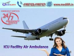 Get the Best Air Ambulance Service in Varanasi by Medilift