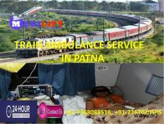 Very Low Fare Medilift Rail Ambulance Service in Patna