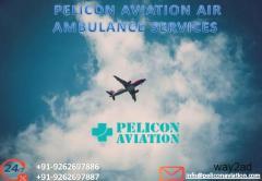 Book Economical-Fare Air Ambulance Services in Kolkata by Pelicon Aviation