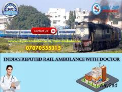 Utilize Train Ambulance Service in Dibrugarh with Unmatched Medical Support