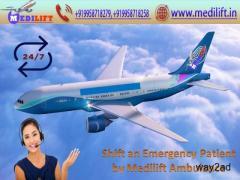 Splendid and ICU Emergency Air Ambulance in Delhi by Medilift