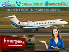 Medilift Cost-Effective Air Ambulance in Ranchi with Medical Facility