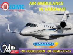 Now Hire Low Budget Special Charter Air Ambulance in Varanasi by Medivic
