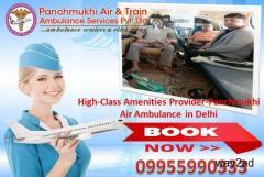 Get an Emergency Panchmukhi Air Ambulance in Delhi with ICU Setup