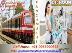 Avail Medical Train Ambulance from Patna to Mumbai- Panchmukhi