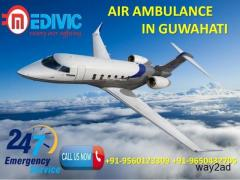 Use Absolute ICU Care Air Ambulance Service in Guwahati by Medivic