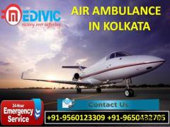 Take Immediate Hi-fi Charter Air Ambulance Service in Kolkata by Medivic