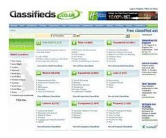 Classifieds portal development
