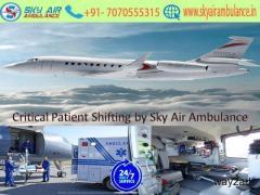Avail Latest ICU Air Ambulance Service in Dimapur by Sky