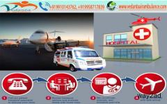 Get Bed to Bed Air Ambulance Services in Patna by Vedanta Air Ambulance from Patna