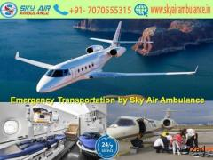 Reputed ICU Air Ambulance Service in Dibrugarh by Sky