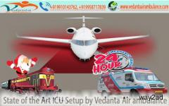 State of the Art ICU setup by Vedanta Air Ambulance from Ranchi