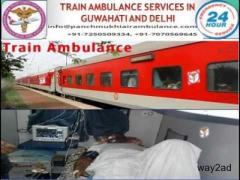 Supper Fast Train Ambulance from Guwahati to Chennai and Delhi with Medical Assistance