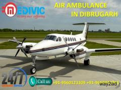 Avail World Class Medical Aid Air Ambulance in Dibrugarh by Medivic