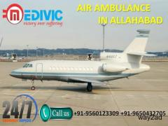 Take Nicely Patient Relocation Air Ambulance in Allahabad by Medivic