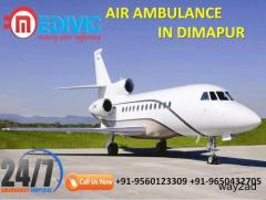 Book Low Fare and Foremost Air Ambulance in Dimapur by Medivic