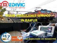 Pick Most Reliable Shifting Train Ambulance Service in Raipur by Medivic