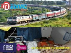Take Full Hi-tech Medivic Train Ambulance Services from Patna to Chennai