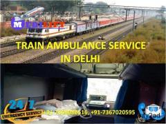 Get Top Class ICU Care Train Ambulance Service in Delhi by Medilift