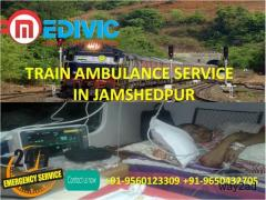 Get Super Cost Effective Train Ambulance Service in Jamshedpur by Medivic