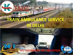 Avail Leading and Tremendous Train Ambulance Service in Delhi by King