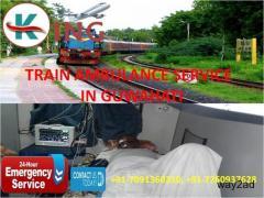 Take Most Honored Train Ambulance Service in Guwahati by King