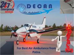 Opt Emergency Air Ambulance from Patna at Reasonable Fare by Decan Air Ambulance