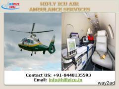 Cheapest-Price Hifly ICU Air Ambulance in Mumbai