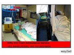 Low Cost ICU Train Ambulance in Patna With Complete Facilities
