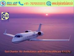 Get Latest ICU Air Ambulance with Safe Transfer in Imphal by Sky