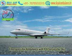 Obtain ICU Setup Air Ambulance Service in Shillong by Sky