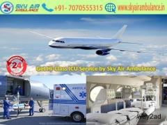 Take More Comfort Air Ambulance in Ranchi by Sky