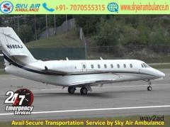 Book 24 Hour Air Ambulance Service in Siliguri by Sky