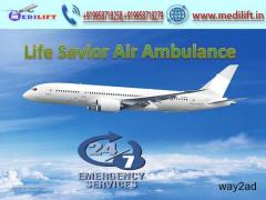 Pick Paramount Air Ambulance Service in Dehradun by Medilift