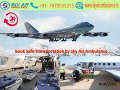 Available Hassle-Free Air Ambulance in Ahmedabad by Sky