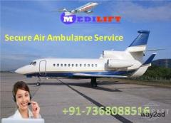 Take Superb Air Ambulance Service in Raigarh with ICU Setup