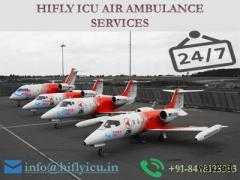 Hire Transparent Air Ambulance in Srinagar to Delhi by Hifly ICU