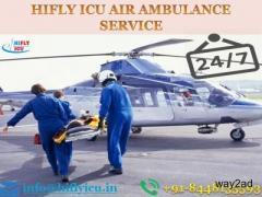 Book World-Class Air Ambulance in Gwalior by Hifly ICU