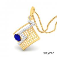 Buy Diamond Pendant Online | Buy Navy Diamond Pendant