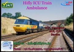 Best Medical Support Train Ambulance in Chandigarh By Hifly ICU