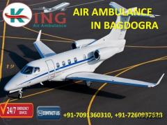 Now Book Famous Exigency Care Air Ambulance Service in Bagdogra by King