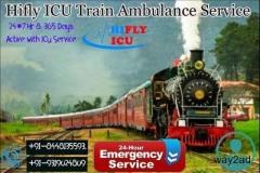Book 24*7 Medical Facility Train Ambulance Service in Guwahati By Hifly ICU