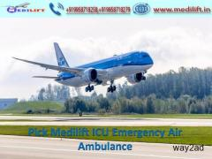 Use Medilift Commercial Air Ambulance Patna to Lucknow at Low Fare