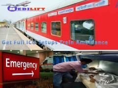 Medilift Train Ambulance from Patna to Delhi – Doctor Facility