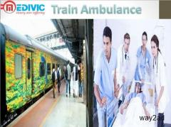 Get Fast Train Ambulance from Patna to Delhi by Medivic Aviation