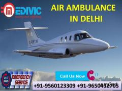Avail Immaculate ICU Charter Air Ambulance Service in Delhi by Medivic