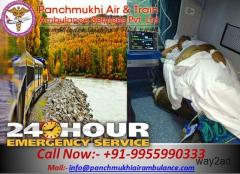 Get Best and Low-cost Medical Train Ambulance from Ranchi to Delhi- Panchmukhi