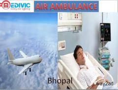 Get Service of Air Ambulance in Bhopal by Medivic Aviation