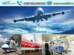 Medilift Full ICU Setups Air Ambulance Service in Kolkata