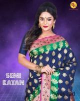 Exclusive Katan silk sarees online at Banarasi Niketan
